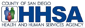 County of San Diego health and Human Services HHSA logo