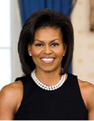 First Lady Michelle Obama oficial portrait